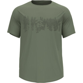 Odlo Concord T-Shirt S/S Crew Neck Men, matte green/forest graphic